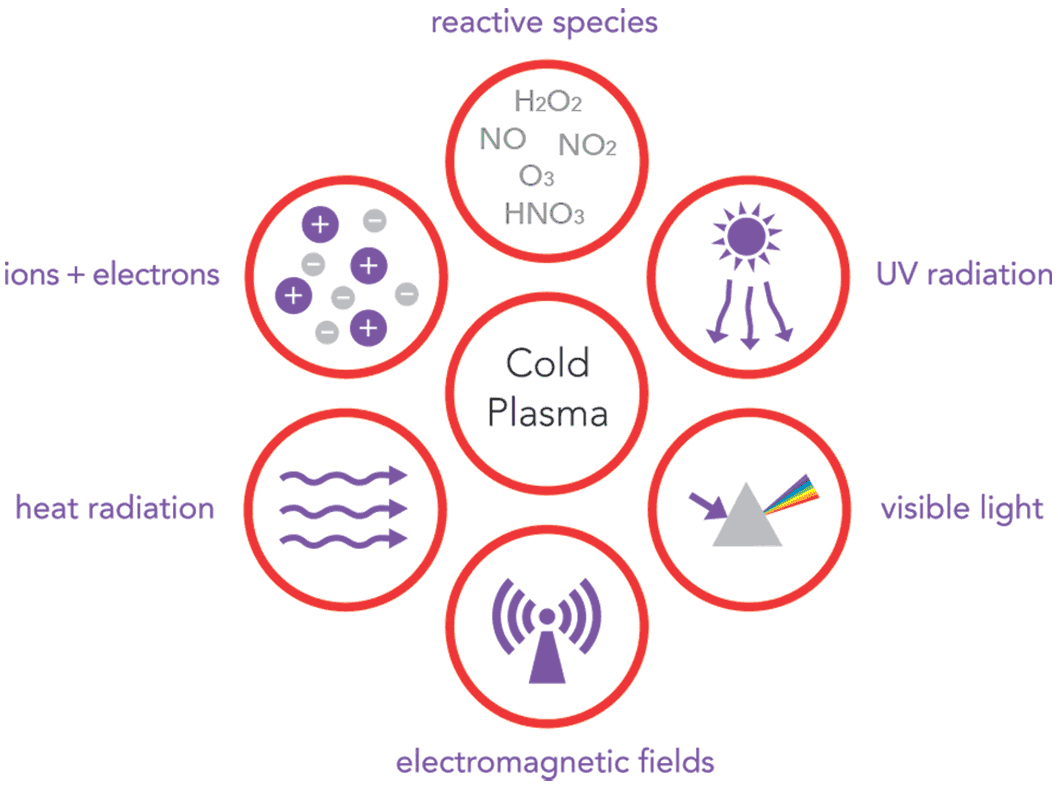 illustration explaining the contents of cold plasma